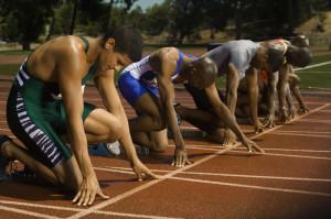 Zawody biegaczy sportowiec astmatyk