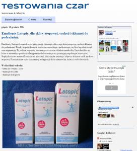 Wyniki testu konsumenckiego emolientów Latopic® – opinie uczestników