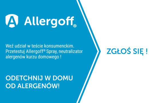 Weź udział w testach konsumenckich Allergoff® Spray!
