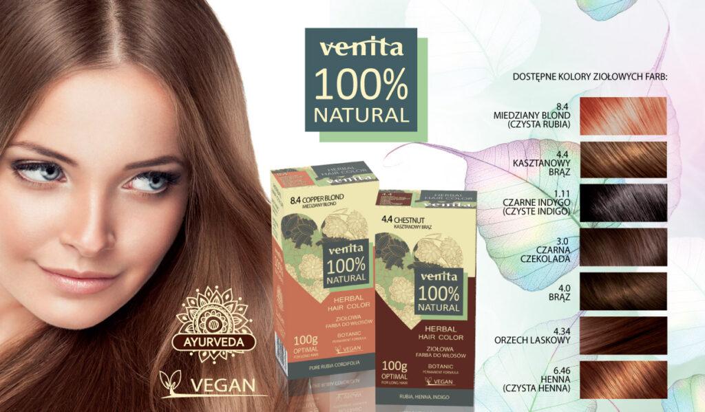 Ziołowe farby do włosów Venita