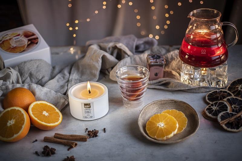 Świeca zapachowa z naturalnym woskiem